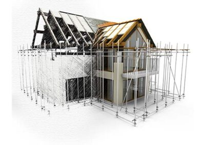 Ace Renovator and Retrofitting House With Scaffolding